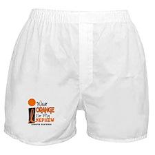 I Wear Orange For My Nephew 9 Leukemia Boxer Short
