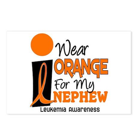 I Wear Orange For My Nephew 9 Leukemia Postcards (