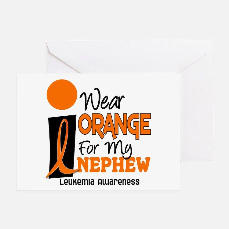 I Wear Orange For My Nephew 9 Leukemia Greeting Ca