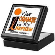 I Wear Orange For My Nephew 9 Leukemia Keepsake Bo