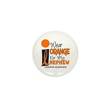 I Wear Orange For My Nephew 9 Leukemia Mini Button