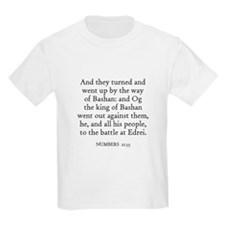 NUMBERS  21:33 Kids T-Shirt