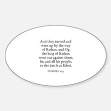 NUMBERS 21:33 Oval Decal