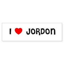 I LOVE JORDON Bumper Bumper Sticker
