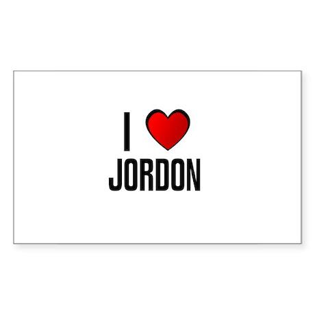 I LOVE JORDON Rectangle Sticker
