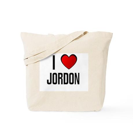 I LOVE JORDON Tote Bag