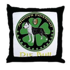 Always faithful Pit Bull Throw Pillow