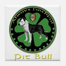Always faithful Pit Bull Tile Coaster