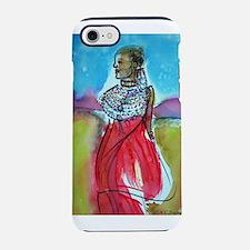 Africian tribal woman, art! iPhone 7 Tough Case