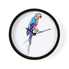 Whimsical Parrot Art Wall Clock