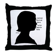 Emily Dickinson Throw Pillow