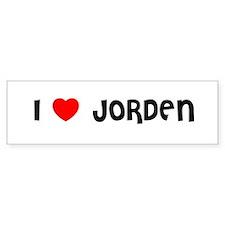 I LOVE JORDEN Bumper Bumper Sticker