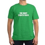 The baby wants fries Men's Fitted T-Shirt (dark)