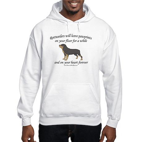 Rottweiler Pawprints Hooded Sweatshirt