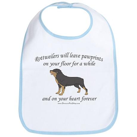 Rottweiler Pawprints Bib