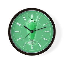 Sweet Green Milkshake Wall Clock