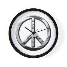 Chrome Peace - Wall Clock