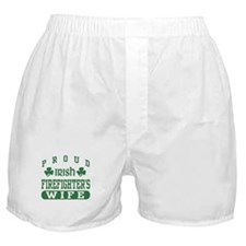 Proud Irish Firefighter's Wife Boxer Shorts