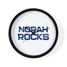 norah rocks Wall Clock