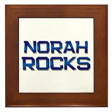 norah rocks Framed Tile