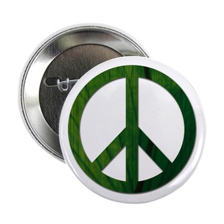 """Leaf Peace - 2.25"""" Button"""