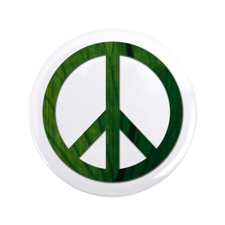 "Leaf Peace - 3.5"" Button"