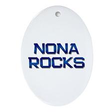 nona rocks Oval Ornament