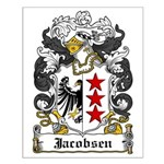 Jacobsen Coat of Arms Small Poster