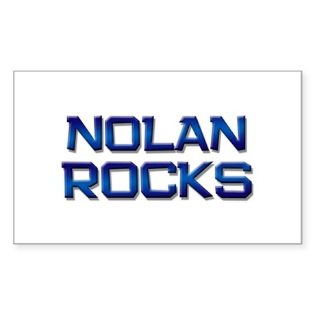 nolan rocks Rectangle Sticker