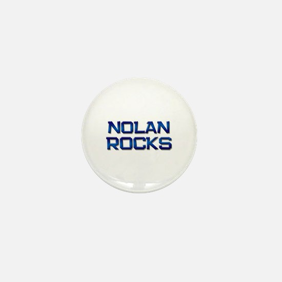 nolan rocks Mini Button
