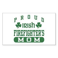 Proud Irish Firefighter's Mom Rectangle Sticker 1