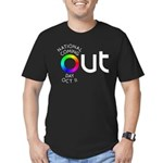 The Big OUT Men's Fitted T-Shirt (dark)