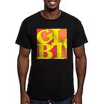 GLBT Hot Pop Men's Fitted T-Shirt (dark)
