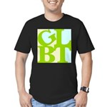 GLBT Tropo Pop Men's Fitted T-Shirt (dark)