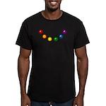 Rainbow Baubles Men's Fitted T-Shirt (dark)