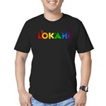 Rainbow Lokahi Men's Fitted T-Shirt (dark)