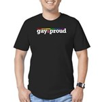 Gay&proud Men's Fitted T-Shirt (dark)