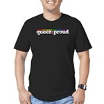 Queer&proud Men's Fitted T-Shirt (dark)