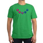 Bi Baubles Men's Fitted T-Shirt (dark)