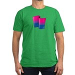 Flying Bi Pride Men's Fitted T-Shirt (dark)
