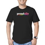 Proud Ally Men's Fitted T-Shirt (dark)