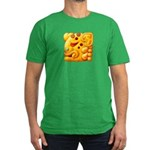 Fiery Maya Jaguar Head Men's Fitted T-Shirt (dark)