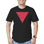 Pink Triangle Knot Men's Fitted T-Shirt (dark)