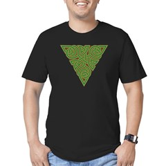 Arboreal Triangle Knot Men's Fitted T-Shirt (dark)