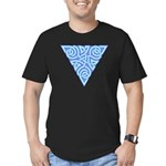 Serene Triangle Knot Men's Fitted T-Shirt (dark)