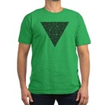 Blackwork Triangle Knot Men's Fitted T-Shirt (dark