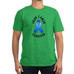Colon Cancer Survivor Men's Fitted T-Shirt (dark)