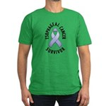 Esophageal Cancer Survivor Men's Fitted T-Shirt (d
