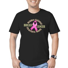 Breast Cancer Month Men's Fitted T-Shirt (dark)