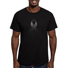 Black Awareness Ribbon Men's Fitted T-Shirt (dark)